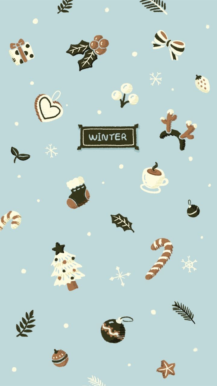 Winter wallpaper   Dollhouse   Christmas phone wallpaper ...