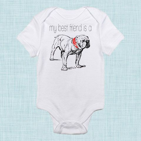 Bulldog Bodysuit Funny Baby Clothes Funny Baby By