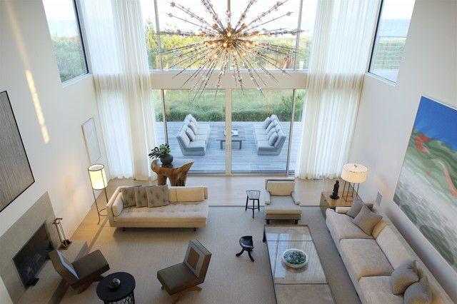 modern living room flying point residence by stelle architects contemporary chandeliers