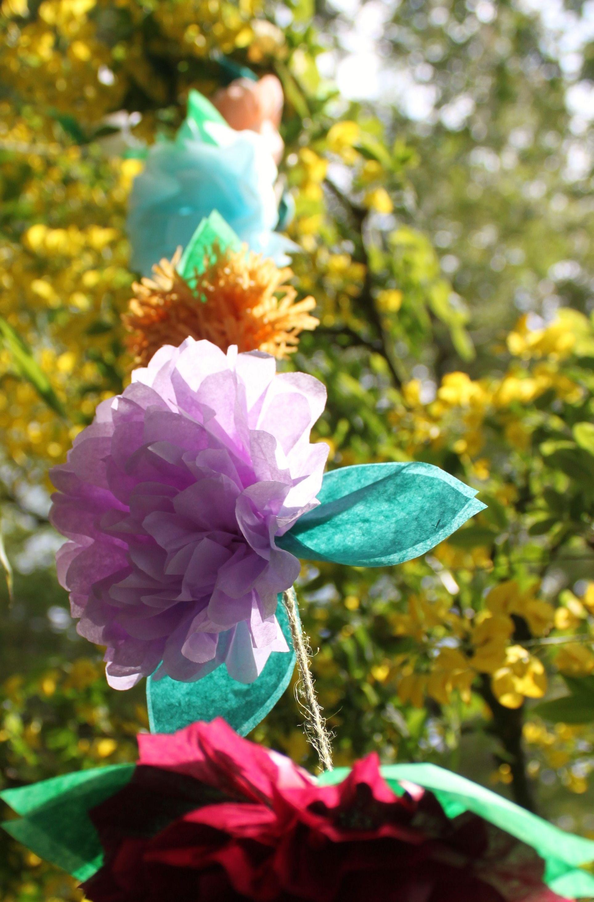 Tissue Paper Flower Garland Wedding Decorations Papplewick Woods