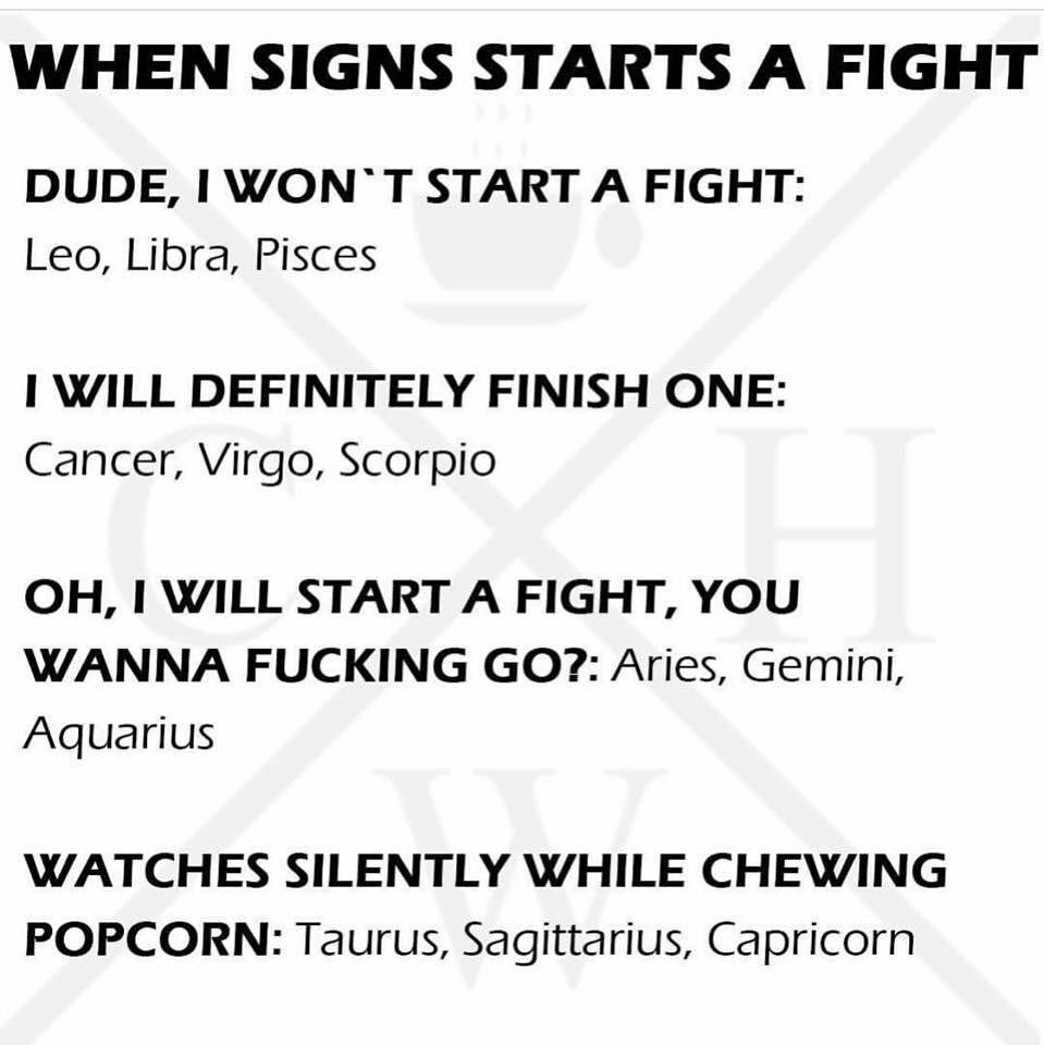True  I'm not usually part of fights but I will sit by and enjoy one