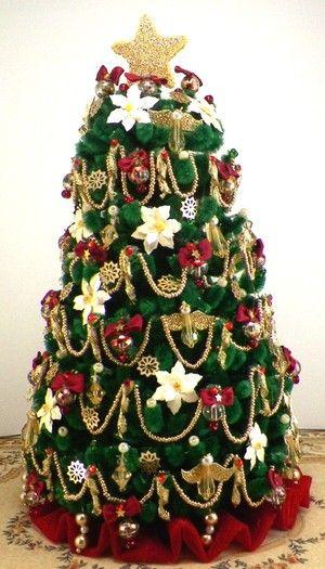 Dollhouse Christmas Trees Inside My Victorian Doll House