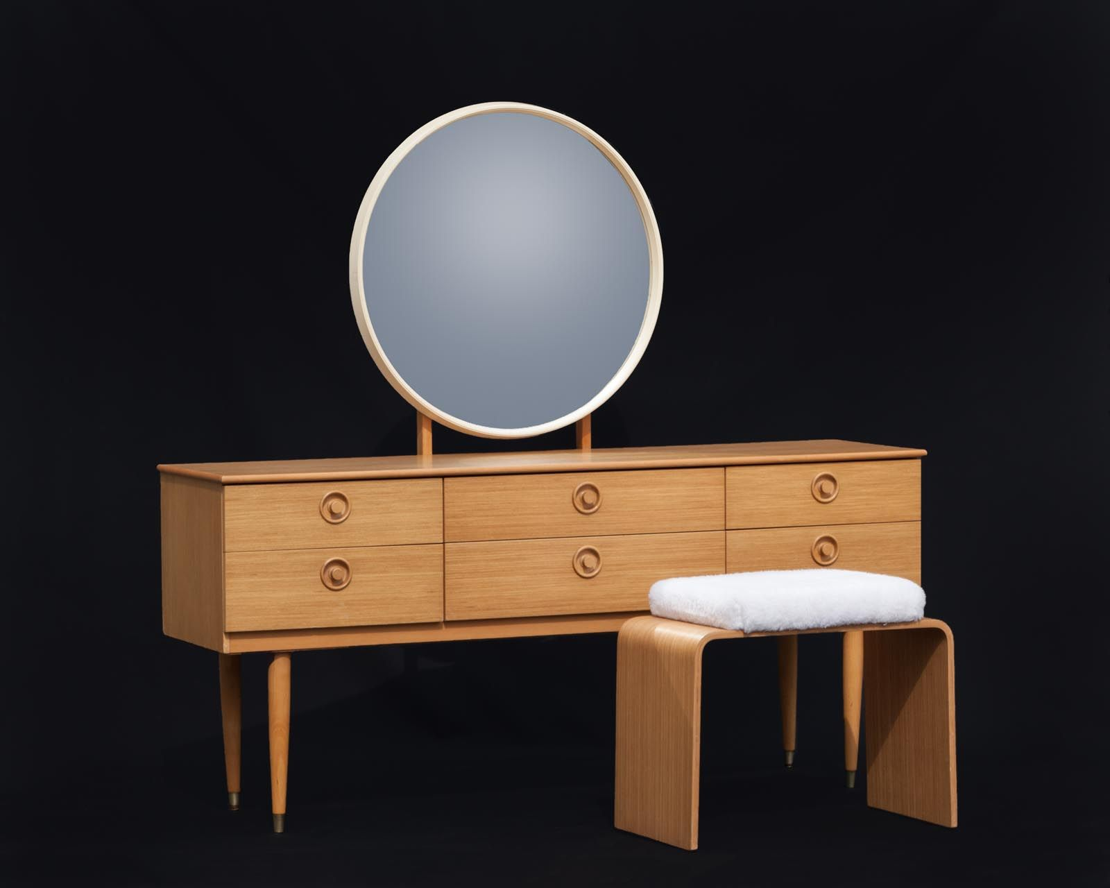 Schreiber Mid Century Retro Sideboard Dressing Table With Mirror And