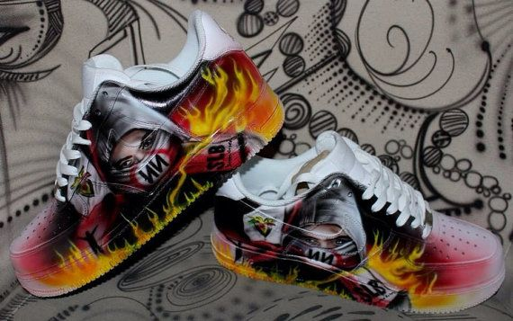 1e8941ea299f Nike Air Force 1 Airbrush Custom Graffiti Painted Shoes Art