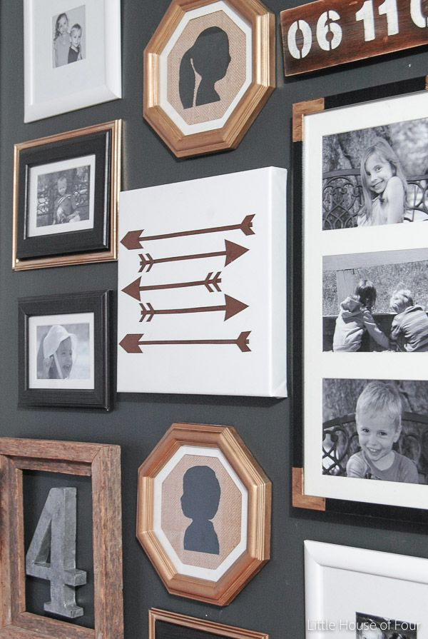 a hallway gets a major update with paint thrifted finds and inexpensive dollar store frames - Dollar Store Picture Frames