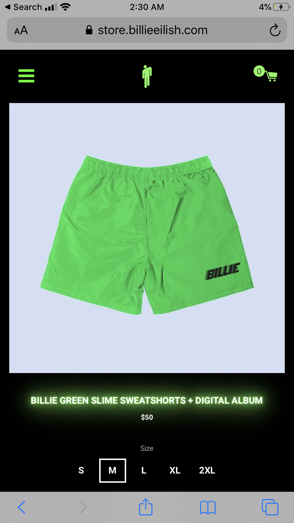 Billie Green Slime Sweatshorts Digital Album Billie Eilish Store Billie Album Billie Eilish