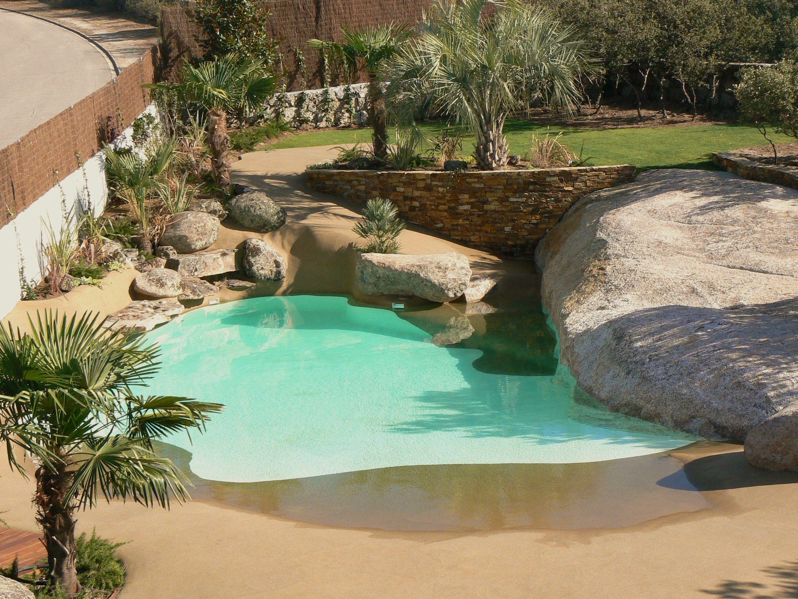 una vivienda de la berzosa acoge esta preciosa piscina de arena