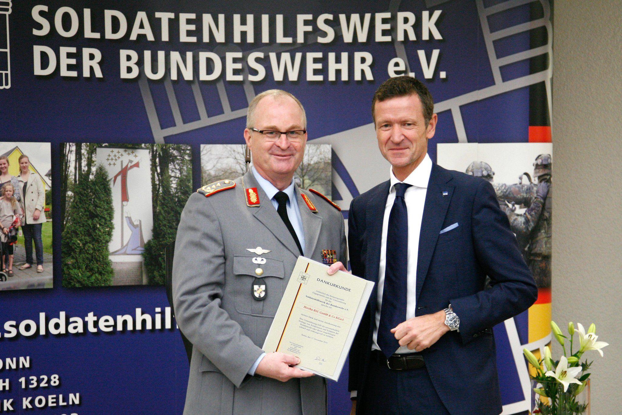 Wir unterstützen seit lagem das Soldatenhilfswerk der @bundeswehrInfo und freuen uns sehr über Wertschätzung. https://t.co/iMt5YOmiwv