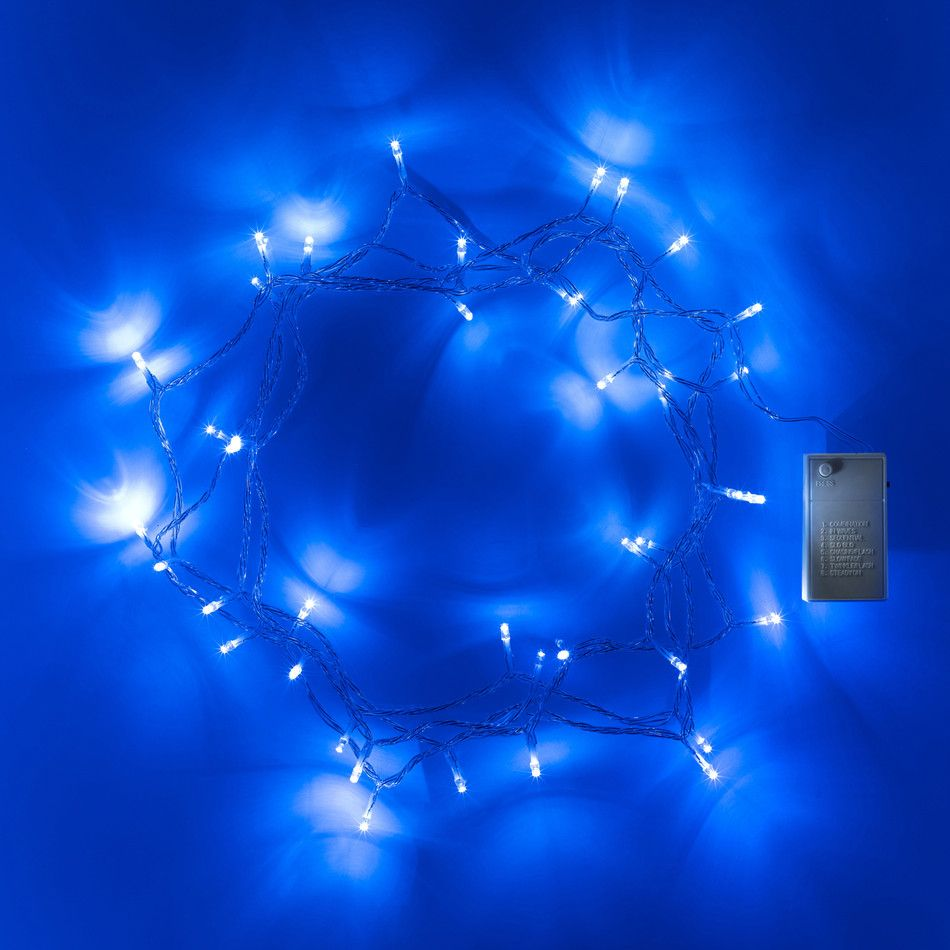 Blue christmas lights in bedroom - 40 Led Blue Battery Operated Fairy Lights