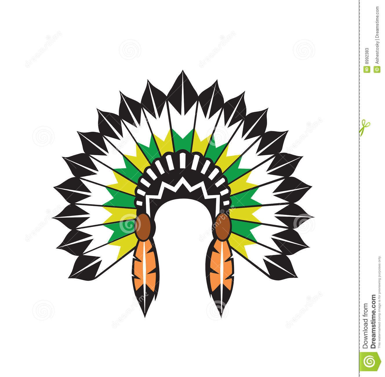 headdress clipart vectored illustration of original native indian rh pinterest co uk Indian Headdress Drawing Simple Indian Headdress Clip Art
