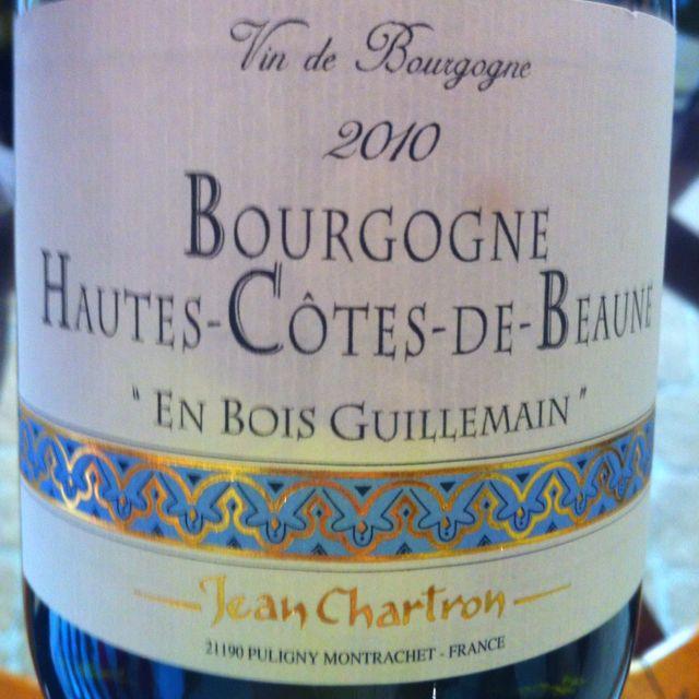Jean Chartron, Hautes Cotes de Beaune 2010
