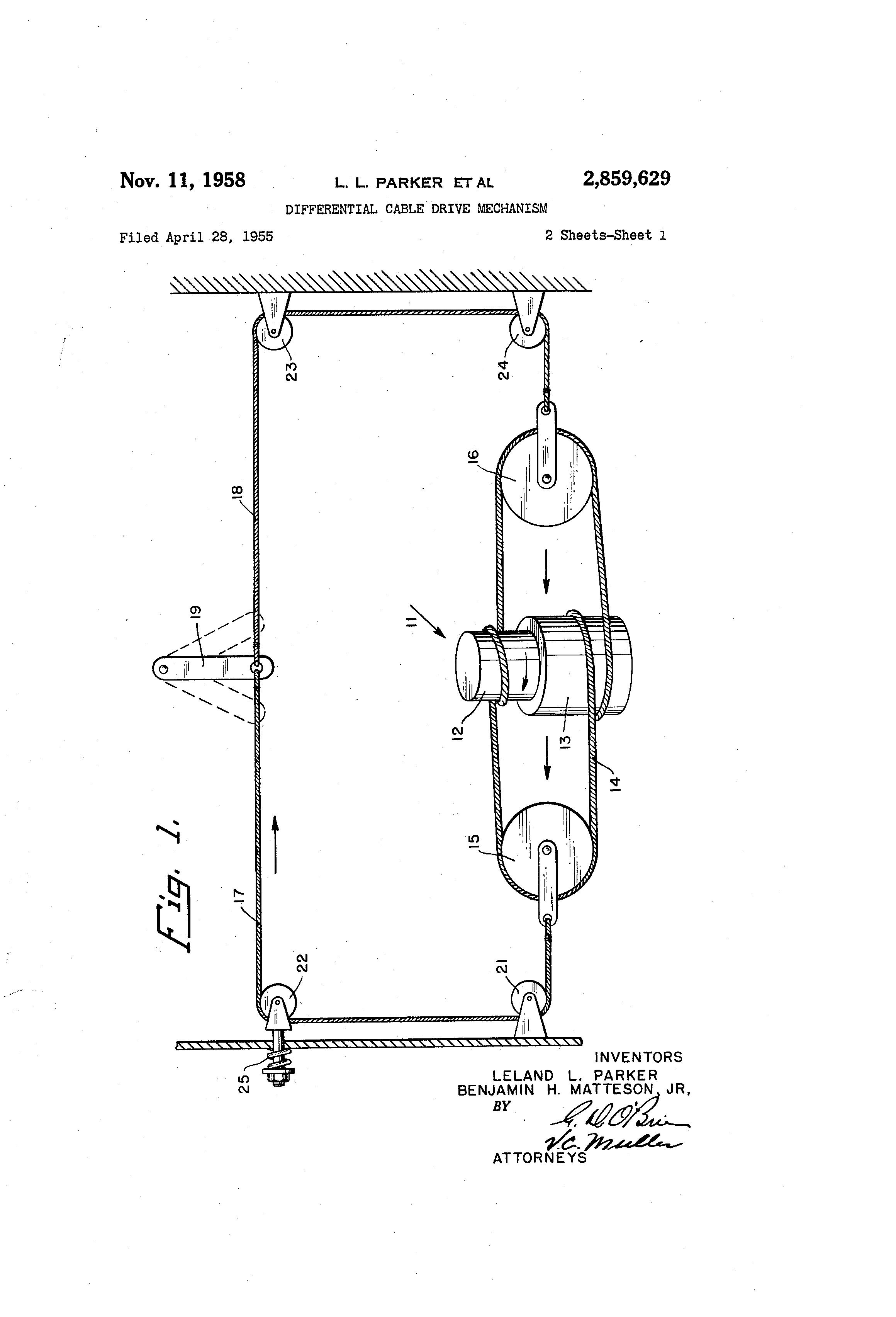 专利 US2859629 - Differential cable drive mechanism - Google 专利 ...