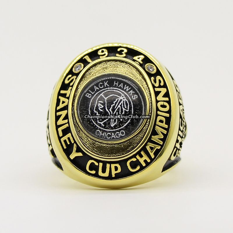 1934 Chicago Blackhawks Stanley Cup Championship Ring. Best gift from  www.championshipringclub.com for Blackhawks fans. You can custom your own  personalized ... 7f03bf93c