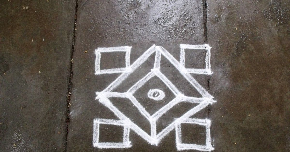5 5 pulli kolam rathna s kolam apartment kolam easy kolam simple