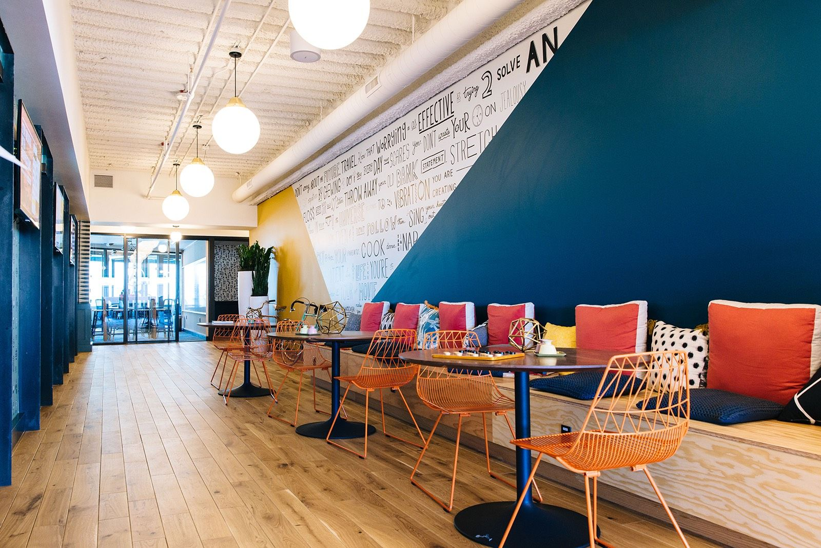 A Tour Of Wework Westlake Tower Work Office Design Coworking Office Space Coworking Space Design