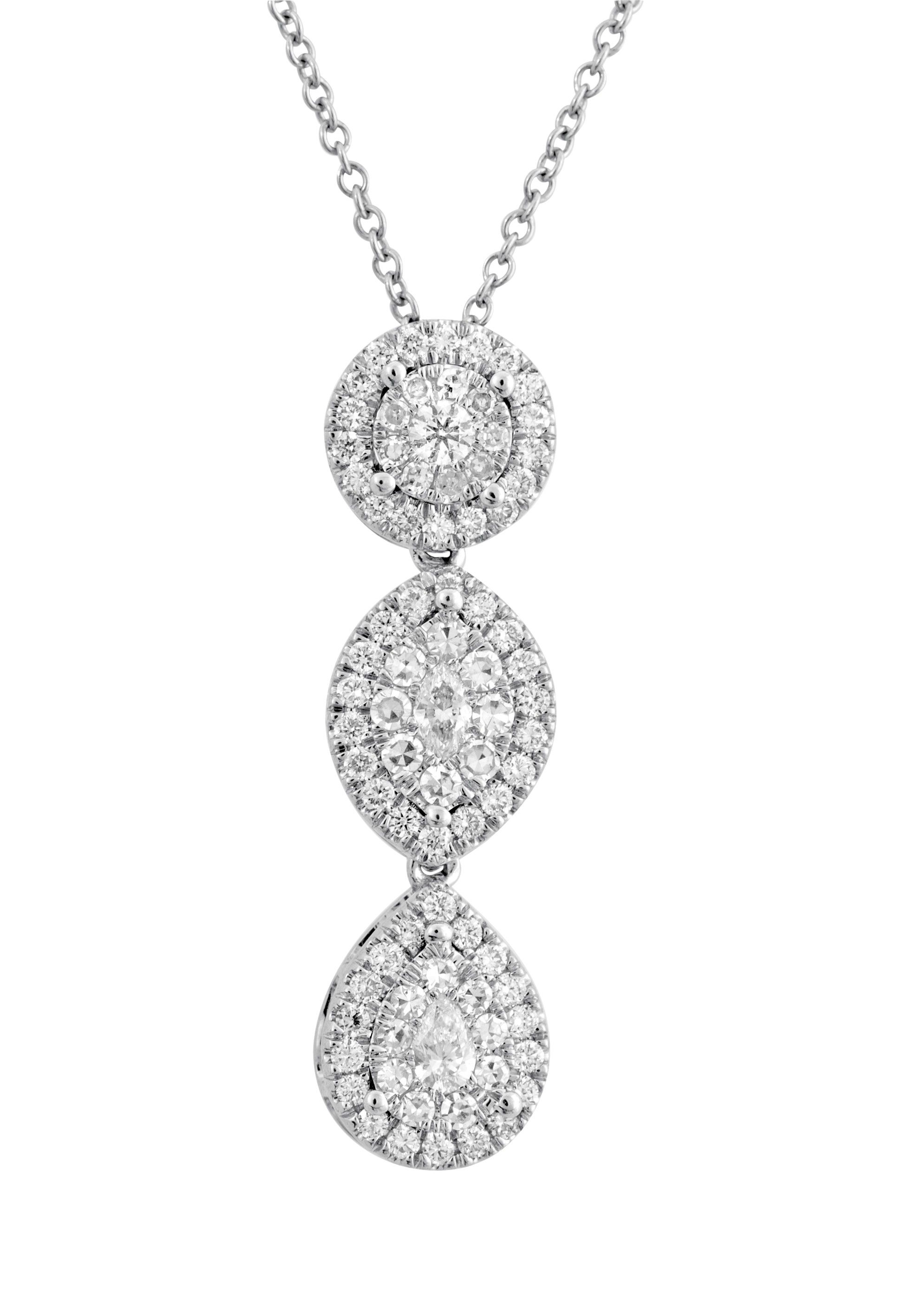 diamond bale pendant marquise gold necklace shape setting k in white single solitaire