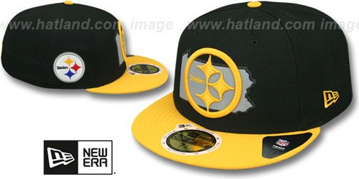 c88ed1c70 Steelers  STATE REFLECT  Black-Gold Fitted Hat by New Era on hatland ...
