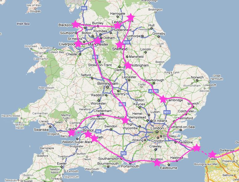 Worksheet. roadtrip map england Road trip Best of England in 12 days
