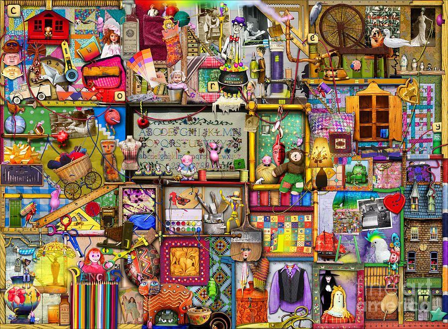 Cupboard Digital Art - The Craft Cupboard by Colin Thompson
