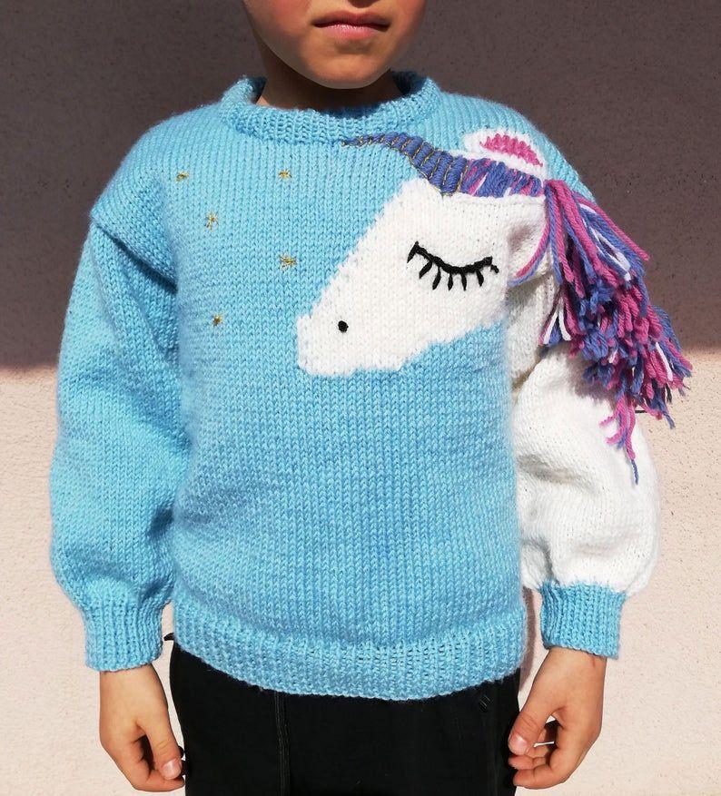 Unicorn Sweater in 2020 | Unicorn sweater, Knitting ...