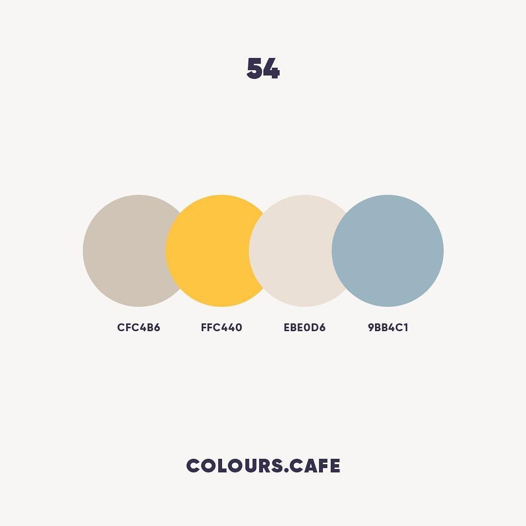 Colours Cafe On Instagram Colours 54 Cfc4b6 Ffc440 Ebe0d6