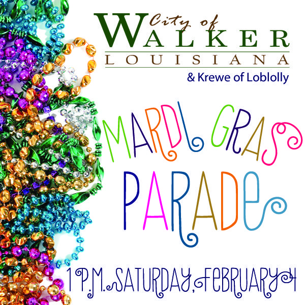 Don't miss our Mardi Gras Parade on Saturday afternoon! (hmmm..... I just might go!!) :D