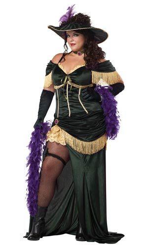 Plus Size Saloon Madame Adult Costume Burlesque Costumes Costume