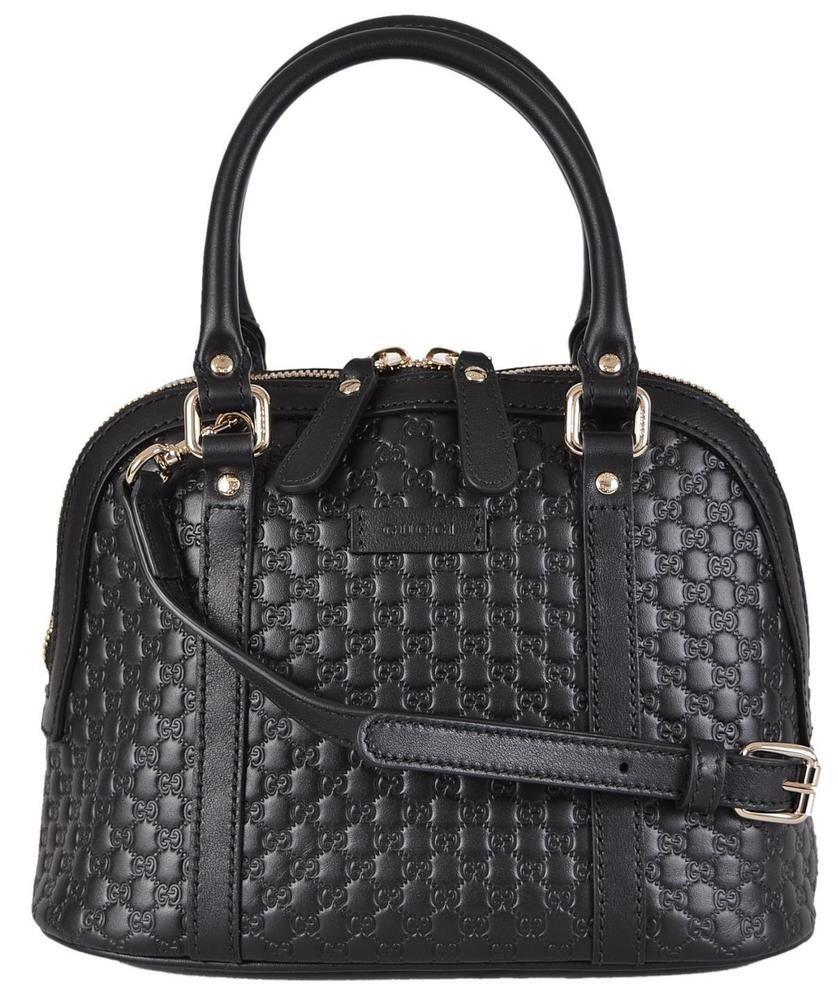 e4b4355cf444 NEW Gucci 449654 $995 Micro GG Black Leather Convertible Mini Dome Purse # Gucci #Satchel