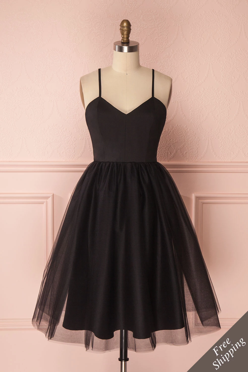 Yara Black Tulle Party Dress by Jordan de Ruiter  Boutique 14