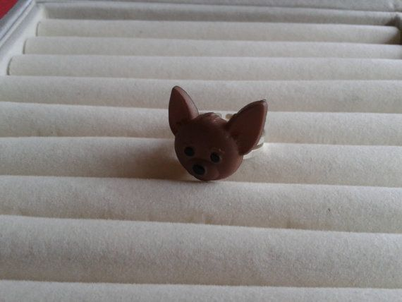 chihuahua  dog   adjustable ring by simplyproducts on Etsy