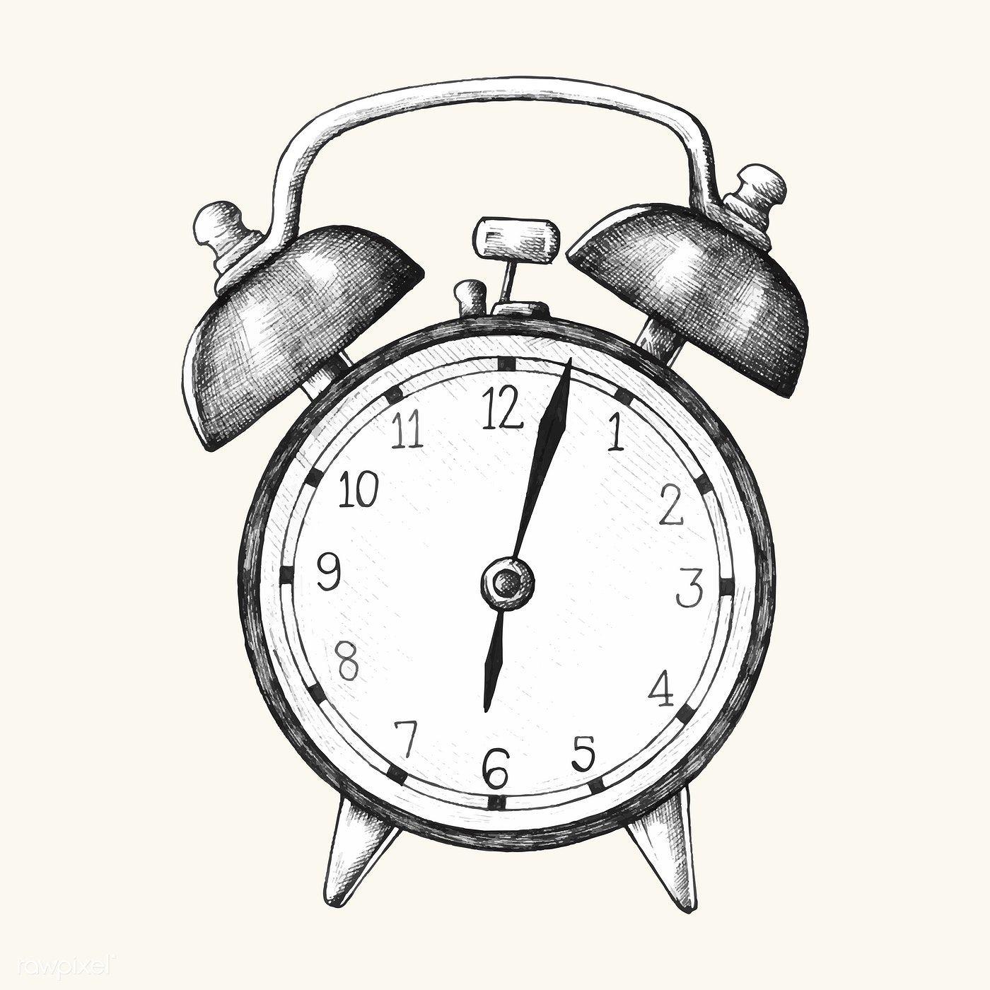 Download premium vector of Handdrawn alarm clock