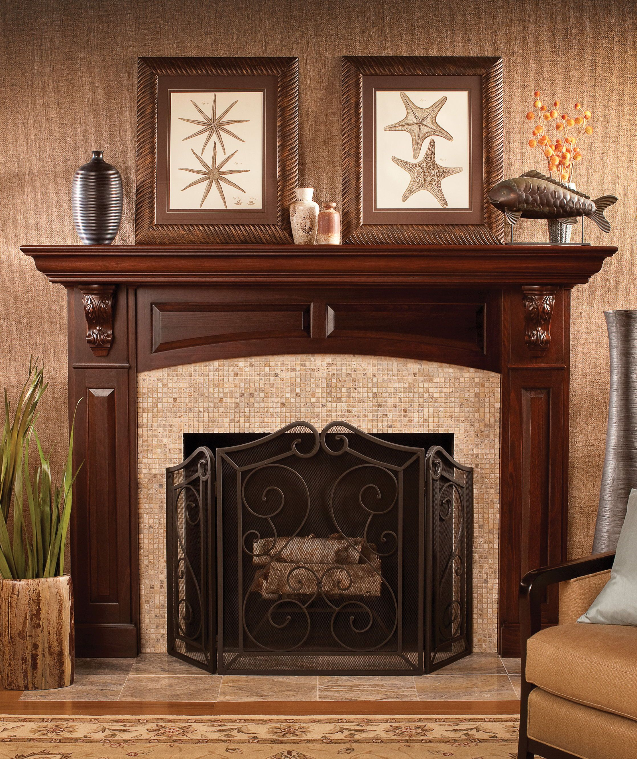 Create A Personalized Fireplace Mantle With Dura Supreme Select Your Own Frieze Finish Cor Fireplace Mantel Designs Traditional Fireplace Fireplace Remodel