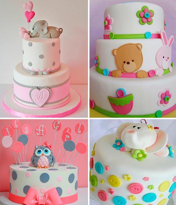 Pasteles De Baby Shower Para Niña   Creativos Pasteles Para El Baby Shower  De Tu Hija