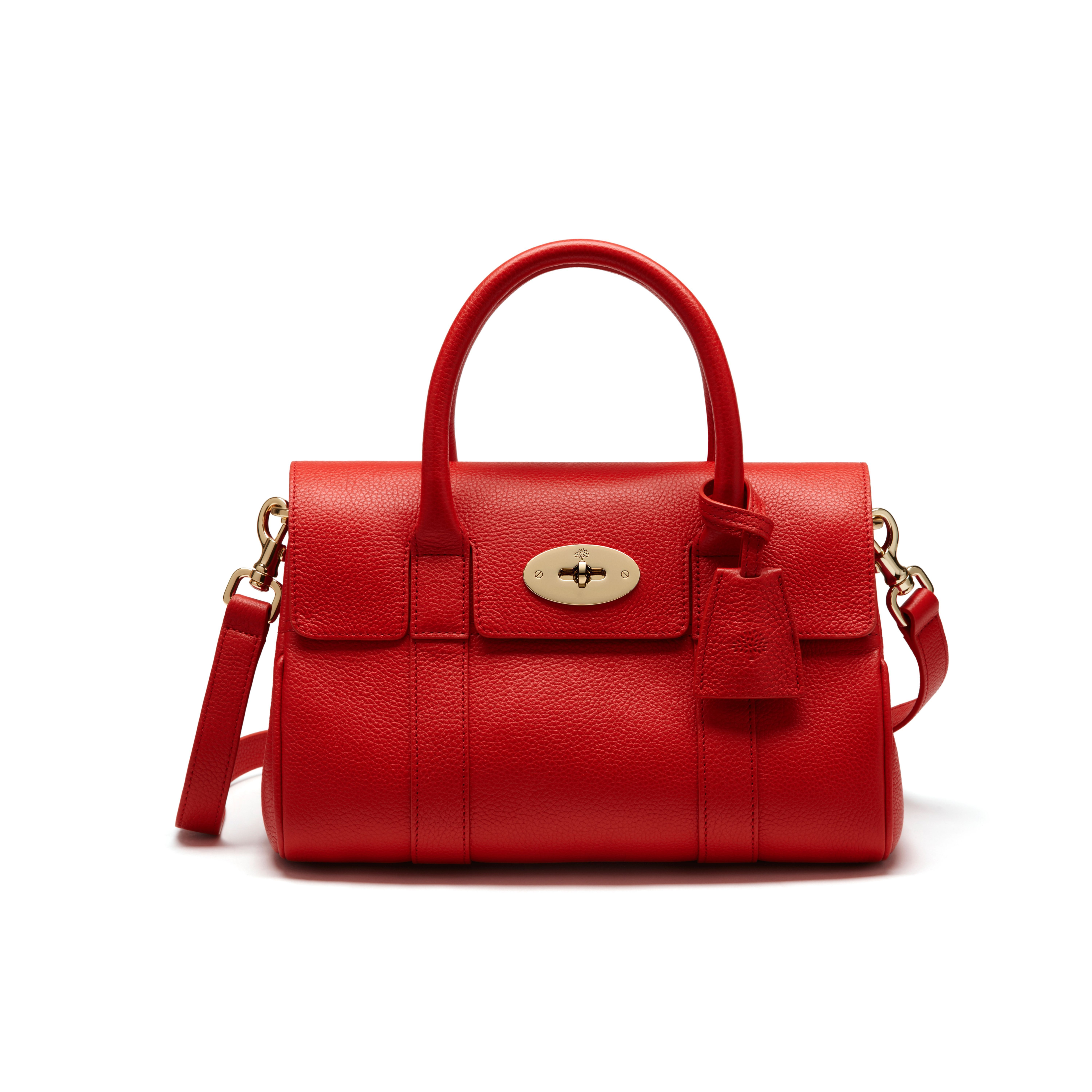 31f351f859 Mulberry - Small Bayswater Satchel in Fiery Spritz Small Classic Grain