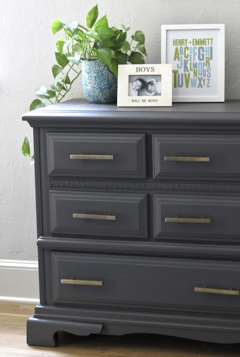 Gray Dresser Makeover Our Hammock House Grey Dresser Gray Dresser Makeover Gray Painted Furniture