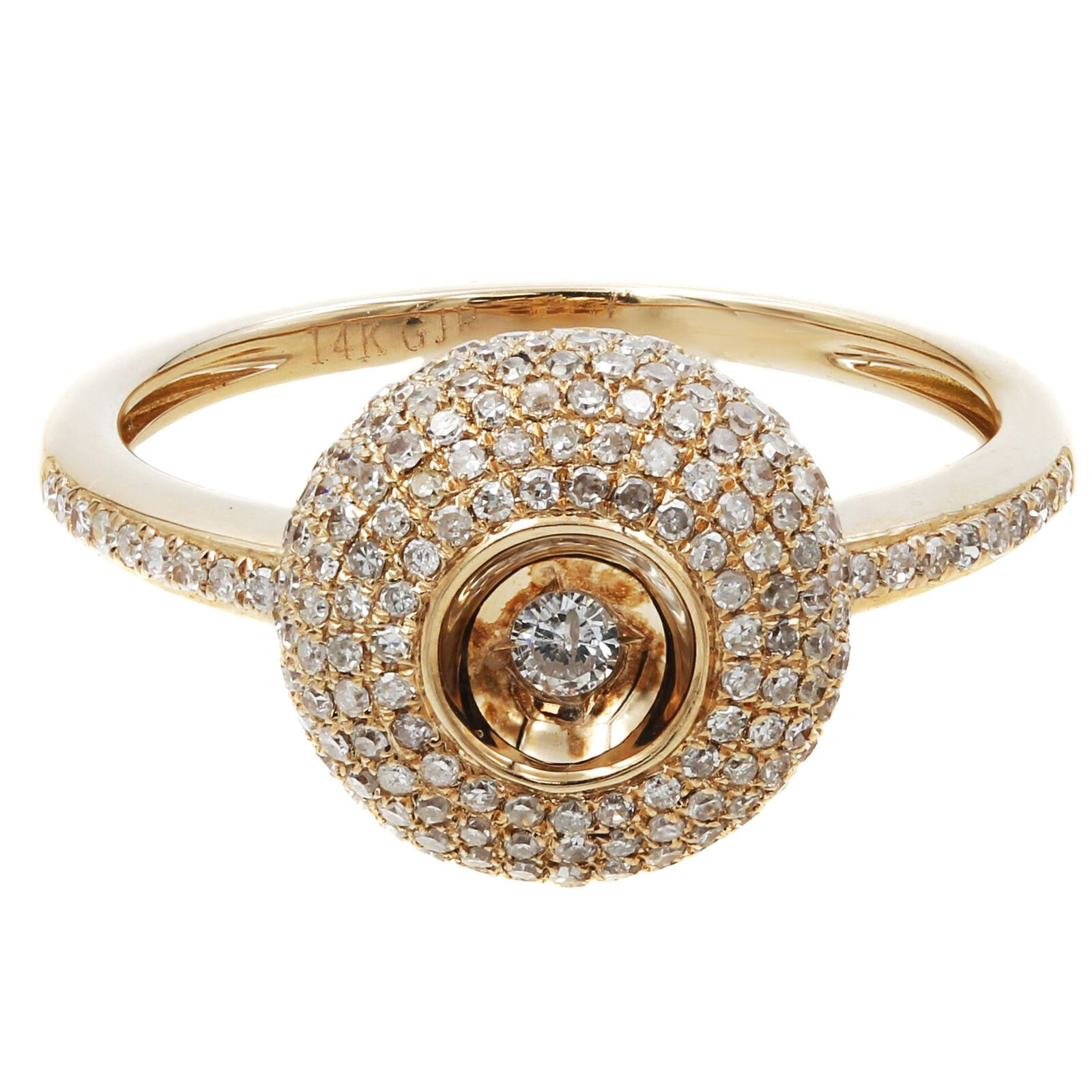 10k Yellow Gold Womens Diamond Fashion Ring 1 12 Carat Tw Fashion Rings Round Diamond Ring Gold Rings Jewelry