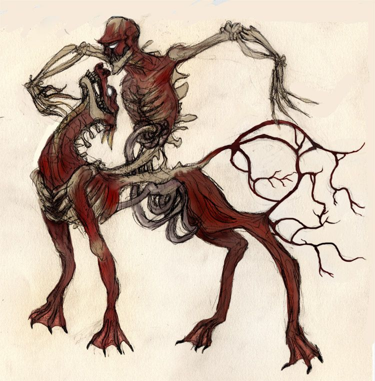 The Nuckelavee is the most awful of the sea faeries, yet they have an aversion to fresh running water, so crossing a river or stream will save your life.