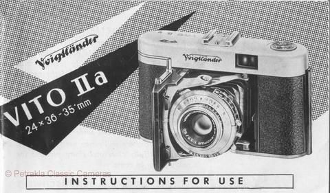Voigtlander Vito IIa, instructions for use  PDF DOWNLOAD