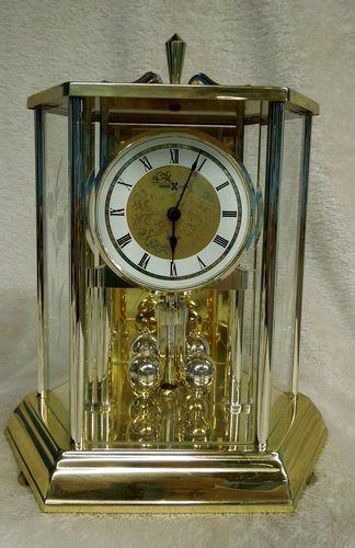 Rare Howard Miller Clock Company Brass Geneva Anniversary Clock Model 612 455 Anniversary Clock Clock Carriage Clocks