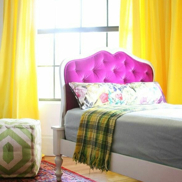 DIY: Hand Dyed Curtains