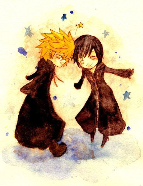 Kingdom Hearts - Roxas and Xion