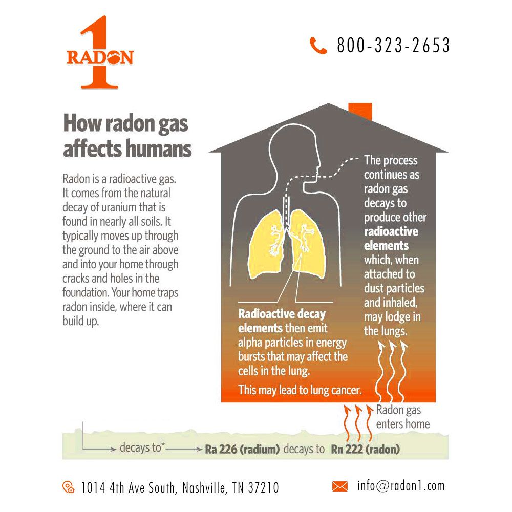 How Radon Gas Affects Human Radon Radon Gas Radon Mitigation