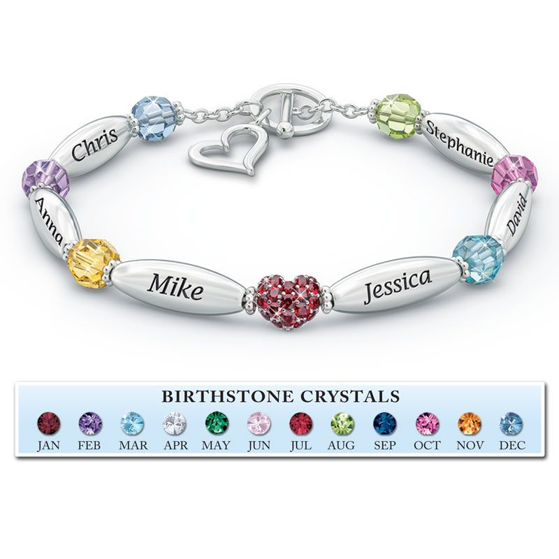 A loving family personalized birthstone bracelet the danbury a loving family personalized birthstone bracelet the danbury mint aloadofball Images