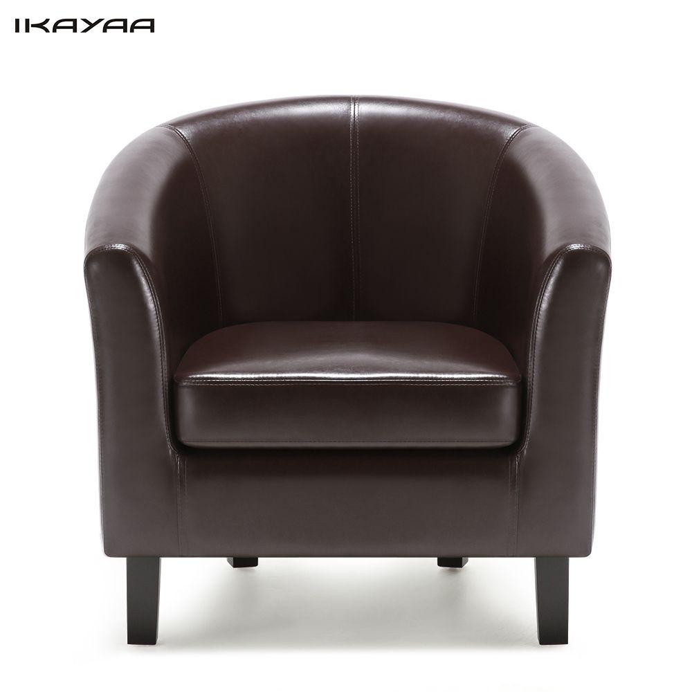 IKayaa US UK FR Stock Chaise PU En Cuir Baril Baignoire ...