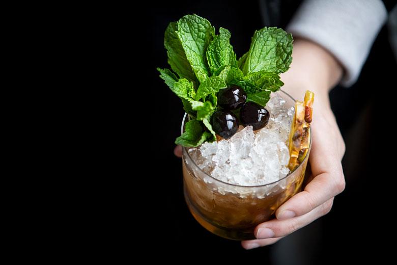 Manila Hotel Mint Julep Recipe Pineapple rum, Aged rum