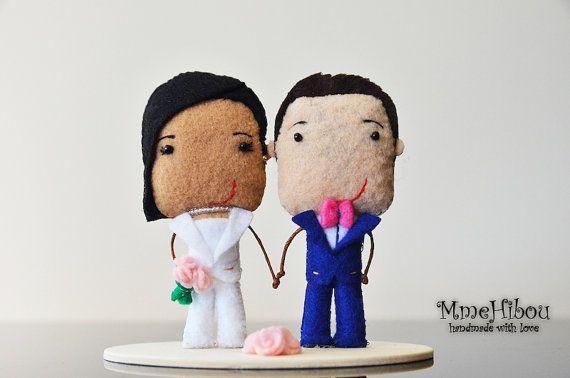 Custom Wedding Cake Topper  Wedding Decor  Felt by MmeHibou