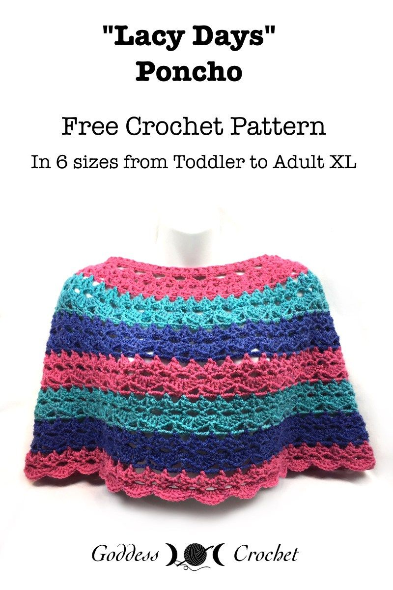 An easy, breezy, perfect-for-spring poncho is my latest free crochet ...
