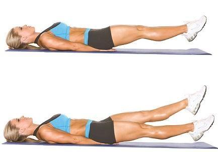 Image result for flutter kicks exercise
