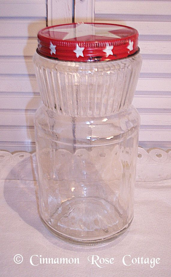 Vintage Maxwell House Instant Coffee Jar With Metal Star Screw Top Lid ~  Country, Primitive