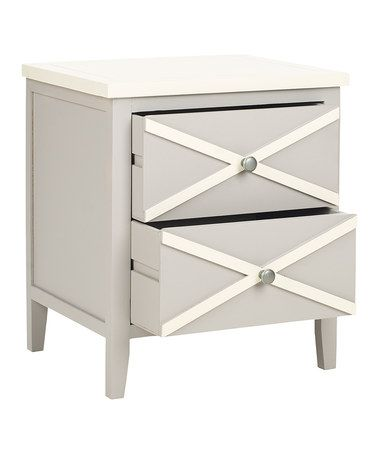 Another great find on #zulily! Gray Rosalee Double Drawer Side Table #zulilyfinds